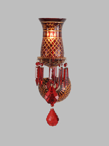 Elizabeth Red Crystal Wall Light| Buy Crystal Wall Lights Online India