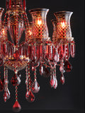 Elizabeth Red Crystal Chandelier| Buy Crystal Chandeliers Online India