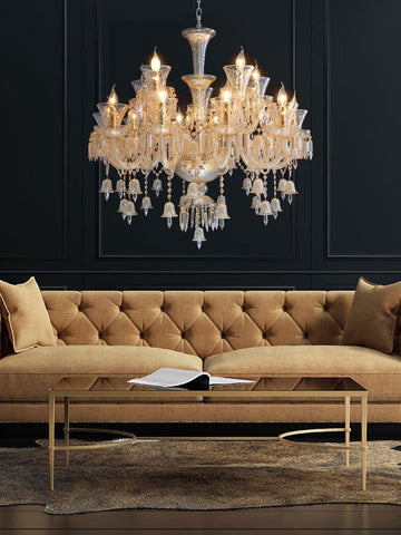 Alberta Gold Crystal Chandelier| Buy Crystal Chandeliers Online India