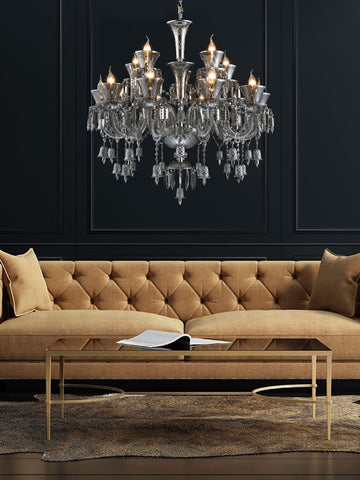 Alberta Grey Crystal Chandelier| Buy Crystal Chandeliers Online India
