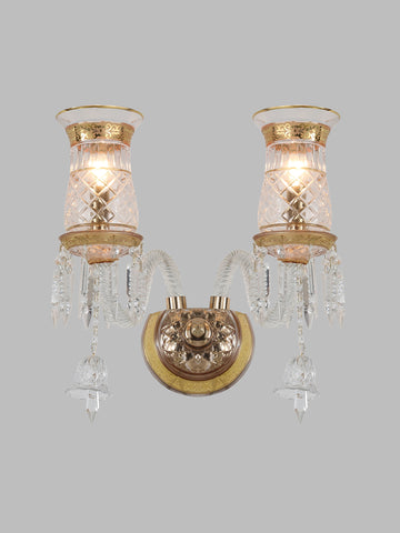 Diana Gold Crystal Wall Light| Buy Crystal Wall Lights Online India