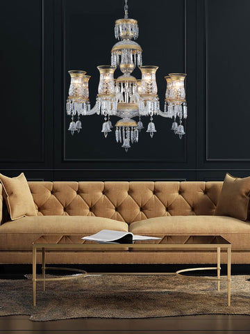Diana Gold Crystal Chandelier| Buy Crystal Chandeliers Online India