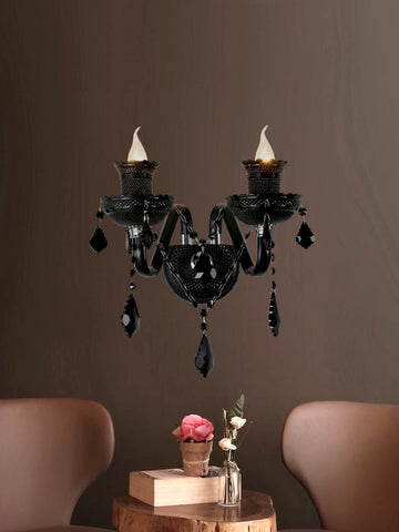 Agatha Black Crystal Wall Light| Buy Crystal Wall Lights Online India