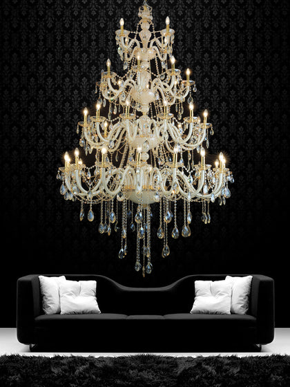 Helena Gold Crystal Chandelier| Buy Crystal Chandeliers Online India
