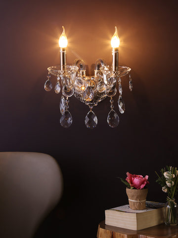 Martha Clear Crystal Wall Light| Buy Crystal Wall Lights Online India