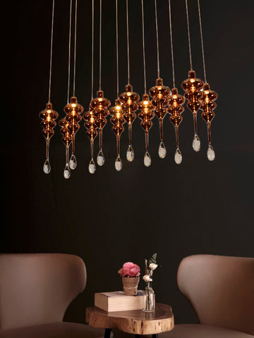 Lyric 12-Lamp | Buy Crystal Chandelier Online in India | Jainsons Emporio Lights