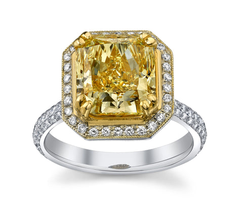 Radiant Fancy Intense Yellow Ring