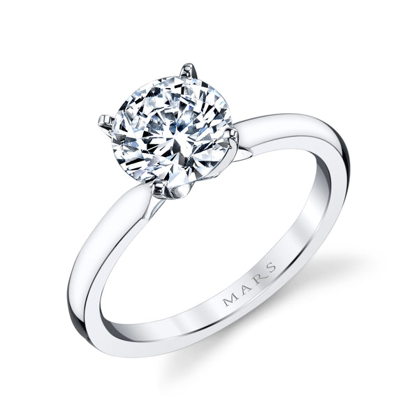 Ladies Solitare Diamond Engagement Ring
