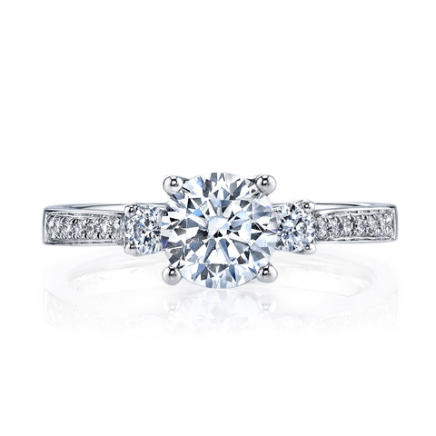 Ladies 3 Stone Diamond Engagement Ring