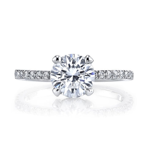 Ladies Micro Halo Diamond Engagement Ring