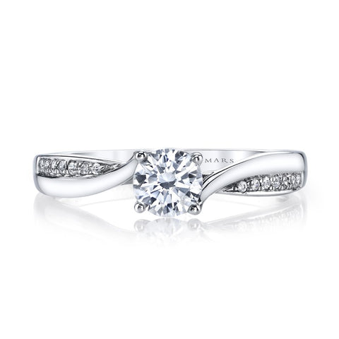 Ladies Interwoven Diamond Engagement Ring