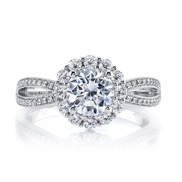 Ladies Halo Diamond Engagement Ring