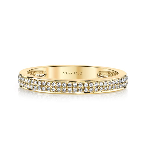 Ladies Diamond Double Row Ring
