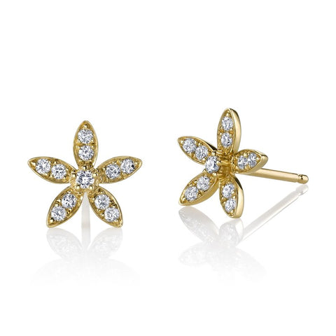 Ladies Fashion Diamond Stud Earrings