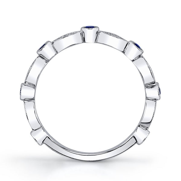 Ladies Diamond & Sapphire Fashion Ring