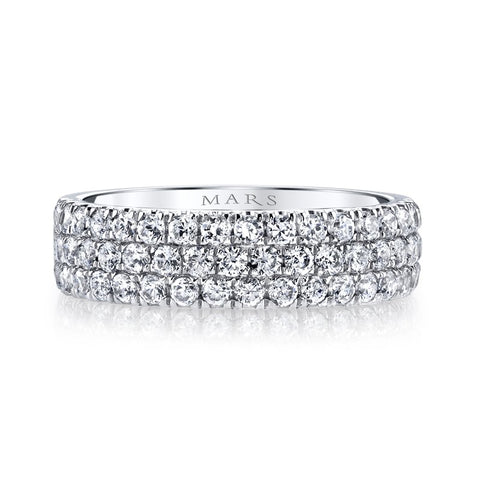 Ladies Diamond 3 Row Ring
