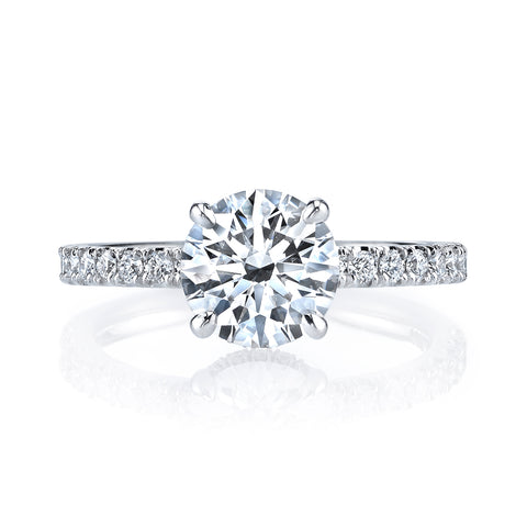 Ladies Petite Diamond Engagement Ring