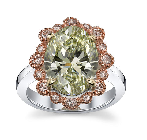 Oval Chameleon Diamond Ring