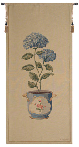 Blue Hydrangea Large European Tapestry