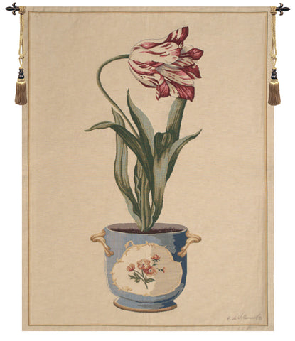 Red Tulip II European Tapestry