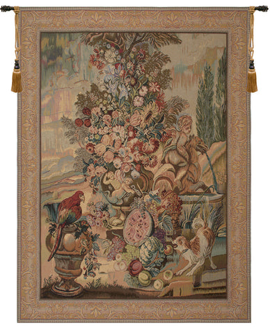 Bouquet Au Perroquet Large French Tapestry
