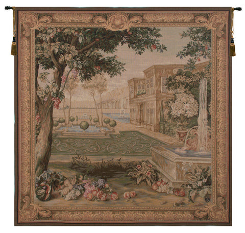 Verdure Fontaine Carree French Tapestry - Tapestry Zest