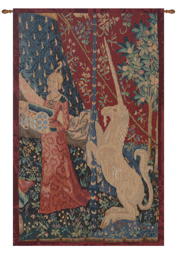 Lady and the Unicorn Jeune Fille Au Coffret French Wall Tapestry - Tapestry Zest