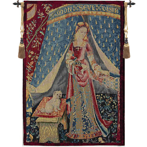 Lady and the Unicorn Dame au Chien French Wall Tapestry - Tapestry Zest
