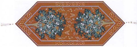 Orange Tree French Table Runner - Tapestry Zest