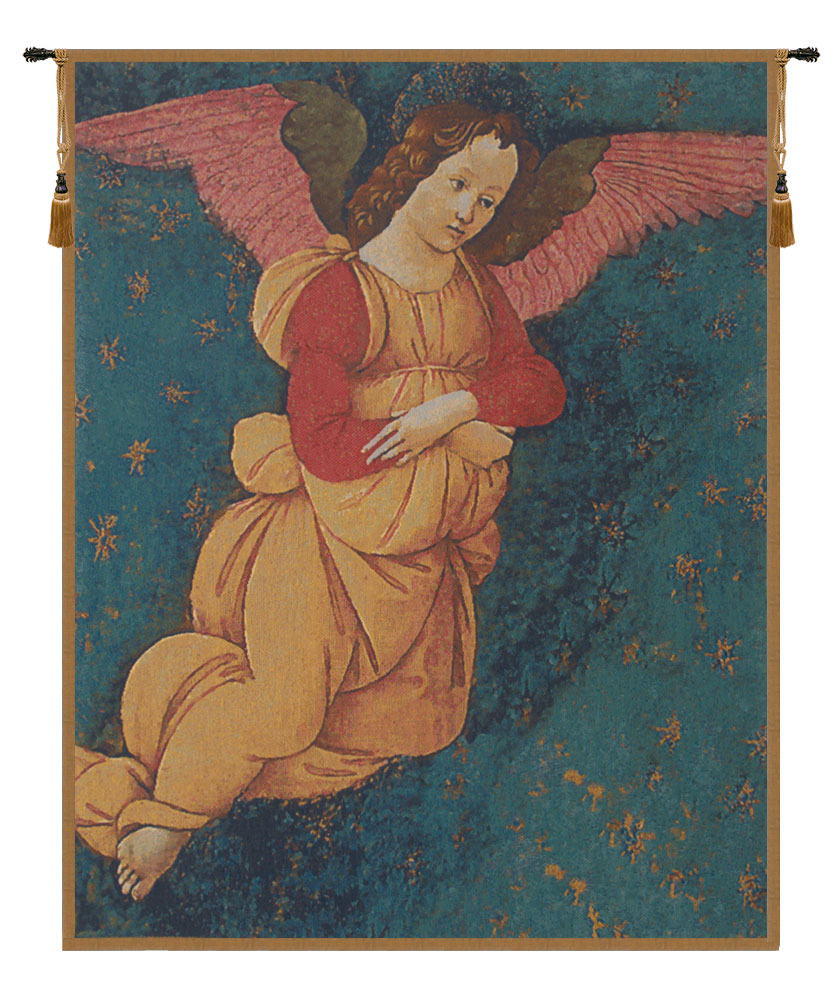 Angels Altarpiece Vertical European Wall Tapestry - Tapestry Zest