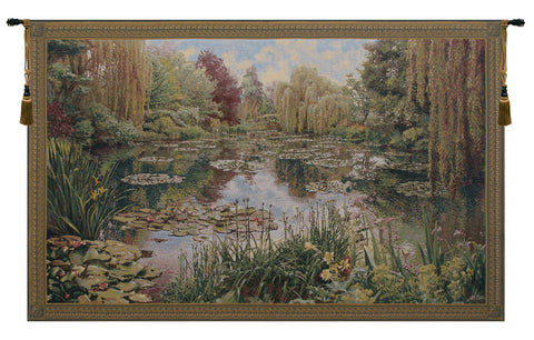 Monet Horizontal European Wall Tapestry - Tapestry Zest