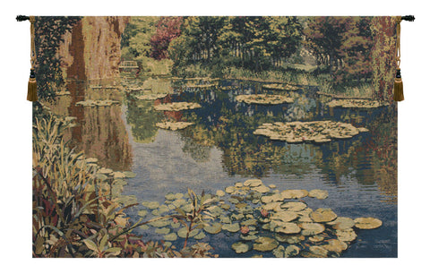 Lake Giverny Without Border European Wall Tapestry - Tapestry Zest