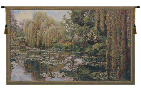 Monet Right Panel European Wall Tapestry - Tapestry Zest