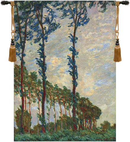Claude Monet Trees European Wall Tapestry - Tapestry Zest