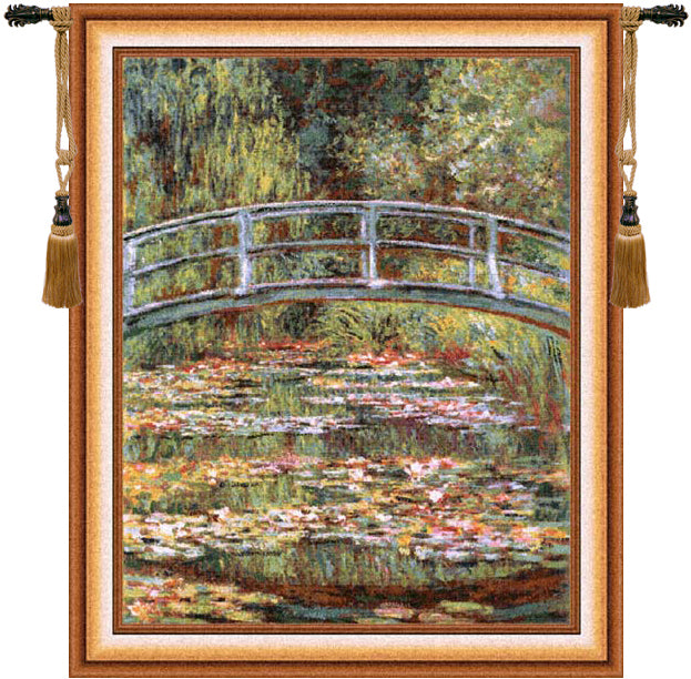 Japanese Bridge Gold European Wall Tapestry - Tapestry Zest