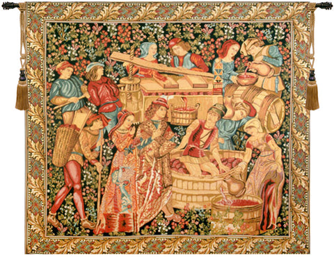 Vendange Left Panel Tapestry Wall Tapestry - Tapestry Zest