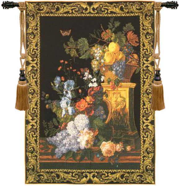 Bouquet on a Column European Wall Tapestry - Tapestry Zest
