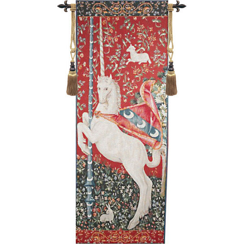 Portiere Licorne Lady and the Unicorn French Wall Tapestry - Tapestry Zest