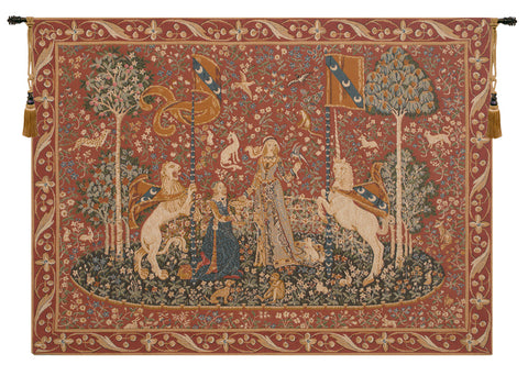 Lady and the Unicorn Taste Le Gout French Wall Tapestry - Tapestry Zest