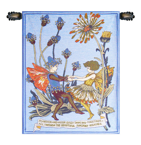 Plantain and Calendula Cicely Mark Barker European Wall Tapestry - Tapestry Zest