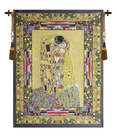 The Kiss European Tapestry by Klimt - Tapestry Zest