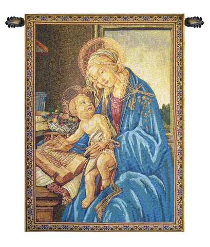 Madonna Del Libro Italian Wall Tapestry - Tapestry Zest