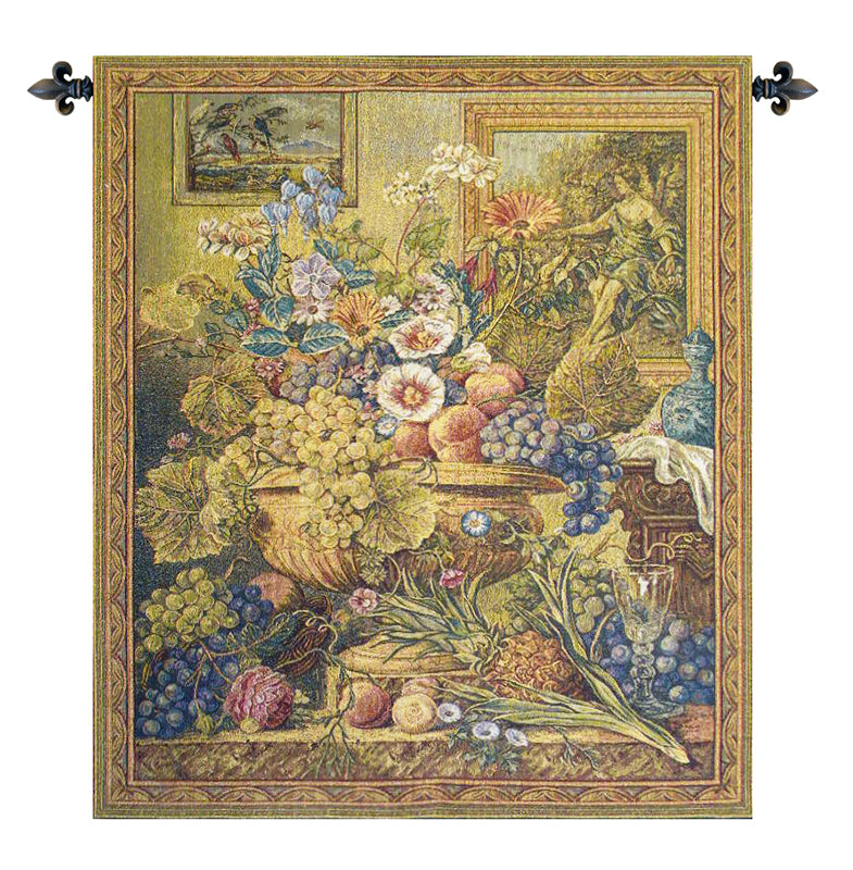 Bouquet Et Cadres Italian Wall Tapestry - Tapestry Zest