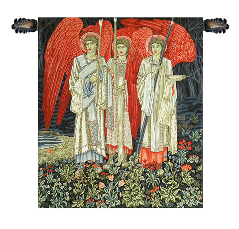 The Holy Grail The Vision Middle Panel European Wall Tapestry - Tapestry Zest