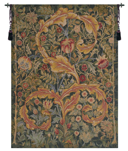 Acanthe Green French Tapestry - Tapestry Zest