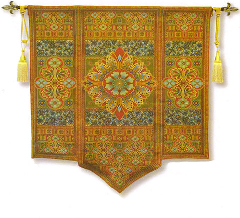 Road to Morocco Golden Tapestry Wall Art - Tapestry Zest
