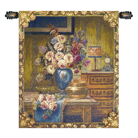Floral Setting Italian Wall Tapestry - Tapestry Zest