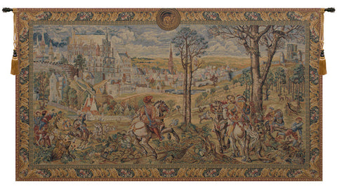 Old Brussels Flanders European Wall Tapestry - Tapestry Zest