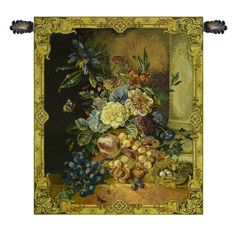 Fruit and Flowers Italian Wall Tapestry - Tapestry Zest