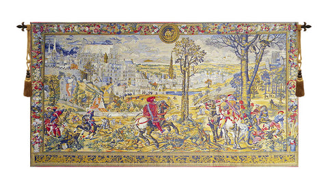 Medieval Brussels European Wall Tapestry - Tapestry Zest